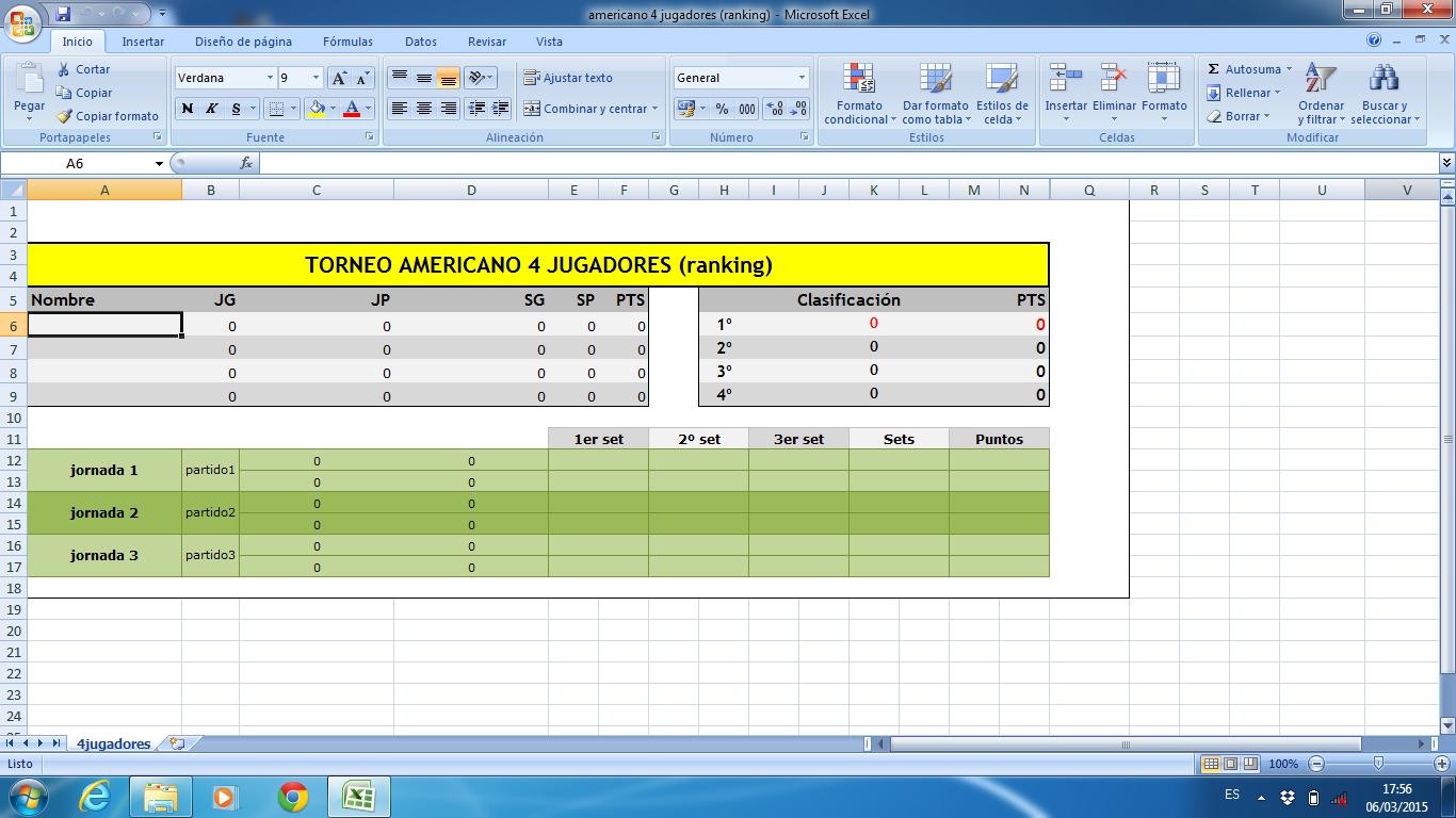 2311285e73 DOCUMENTOS DISPONIBLES EN FORMATO EXCEL  Torneo AMERICANO 4 jugadores  ranking.  ver pdf   ver imagen  ...